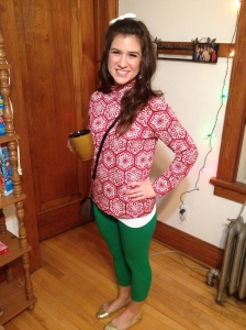 a holiday party last year..this is not my normal attire.