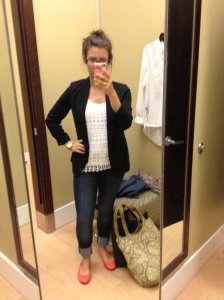 shameless shopping selfie.