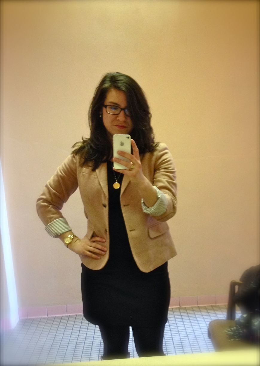 blazer is my roomie's...and also slightly too big.